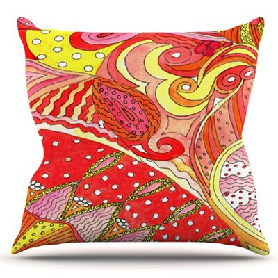 Swirls by Rosie Brown Outdoor Throw Pillow