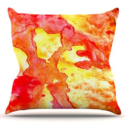 Hot Hot Hot by Rosie Brown Outdoor Throw Pillow