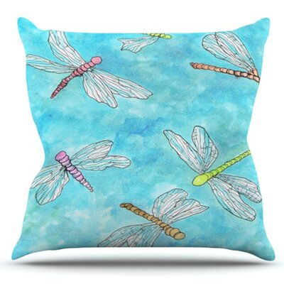 Dragonfly by Rosie Brown Outdoor Throw Pillow