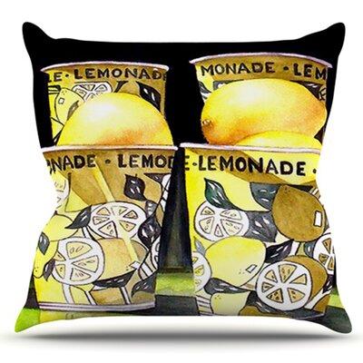 Lemonade by Rosie Brown Outdoor Throw Pillow