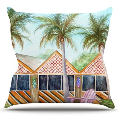 McT on Sanibel by Rosie Brown Outdoor Throw Pillow