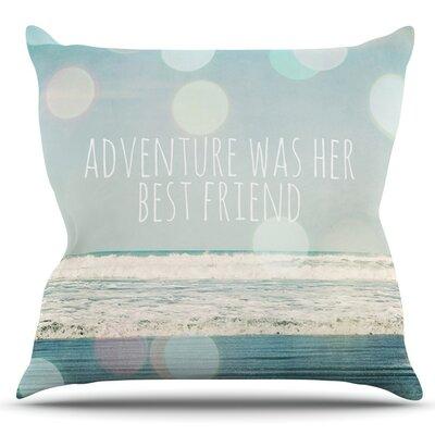 Adventure Was Her Best Friend by Susannah Tucker Outdoor Throw Pillow