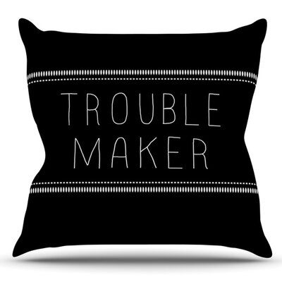 Trouble Maker by Skye Zambrana Outdoor Throw Pillow