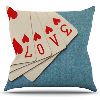 Love by Skye Zambrana Outdoor Throw Pillow