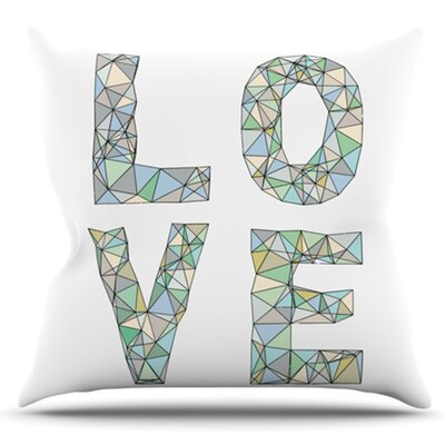 Four Letter Word by Skye Zambrana Outdoor Throw Pillow