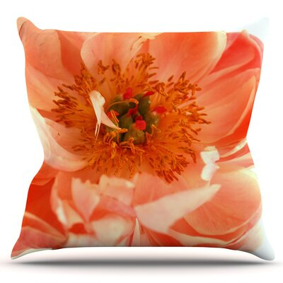 Blushing Peony by Pellerina Design Outdoor Throw Pillow