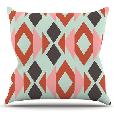 Triangle Weave by Pellerina Design Outdoor Throw Pillow