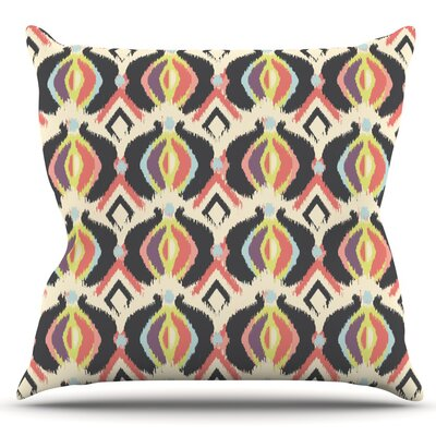 Bohemian iKat by Amanda Lane Outdoor Throw Pillow