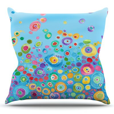 Inner Circle by Catherine Holcombe Outdoor Throw Pillow