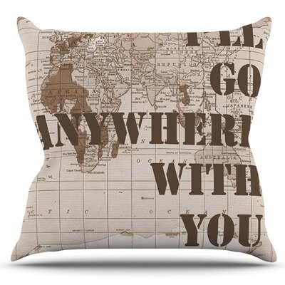 Ill Go Anywhere With You by Catherine Holcombe Outdoor Throw Pillow