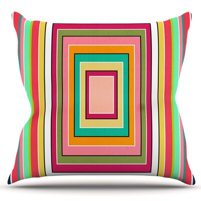 Floor Pattern by Danny Ivan Outdoor Throw Pillow