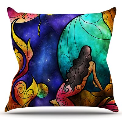 Believe by Mandie Manzano Outdoor Throw Pillow