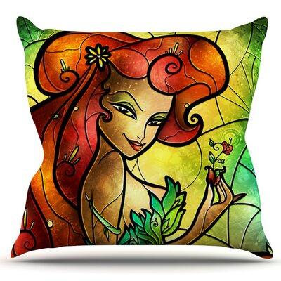Poison Ivy by Mandie Manzano Outdoor Throw Pillow