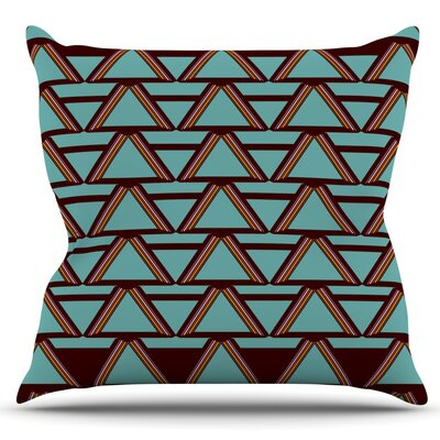 Deco Angels Choco by Nina May Outdoor Throw Pillow