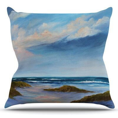 Wet Sand by Rosie Brown Outdoor Throw Pillow