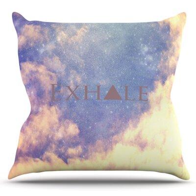 Exhale by Rachel Burbee Outdoor Throw Pillow