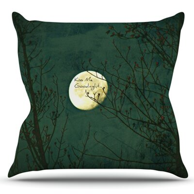 Kiss Me Goodnight by Robin Dickinson Outdoor Throw Pillow