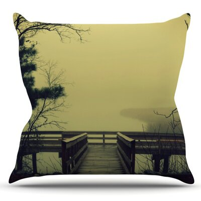 Fog on the River by Robin Dickinson Outdoor Throw Pillow