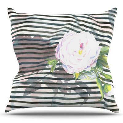 Peony by S. Seema Z Outdoor Throw Pillow