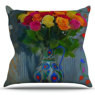 Spring Bouquet by S. Seema Z Outdoor Throw Pillow