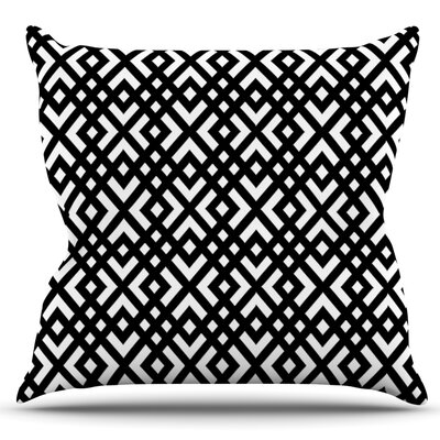 Dijagonala by Trebam Outdoor Throw Pillow