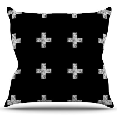 Swiss Cross by Skye Zambrana Outdoor Throw Pillow Color: Black
