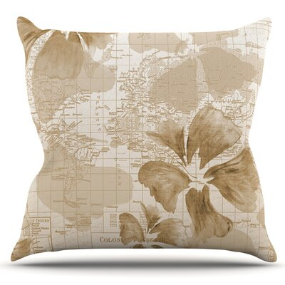 Flower Power by Catherine Holcombe Outdoor Throw Pillow Color: Blue