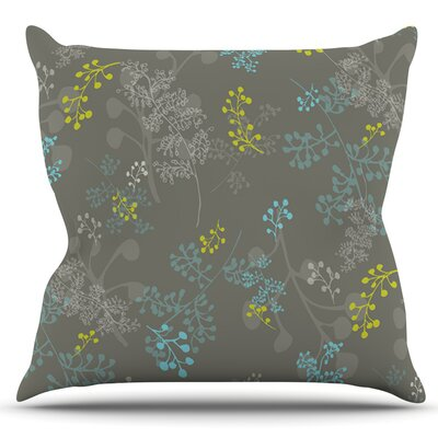 Ferns Vines by Laurie Baars Outdoor Throw Pillow Color: Green