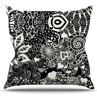 Neptunes Garden by Monika Strigel Outdoor Throw Pillow Color: Black
