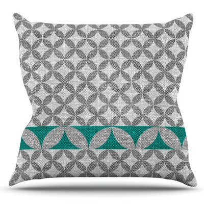 Diamond by Nick Atkinson Outdoor Throw Pillow Color: Turquoise