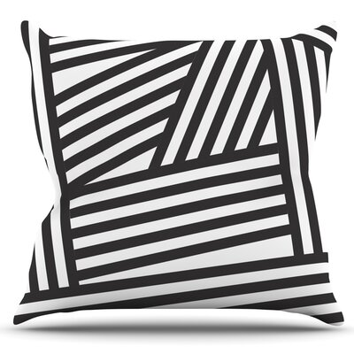 Stripes by Louise Machado Outdoor Throw Pillow Color: Black