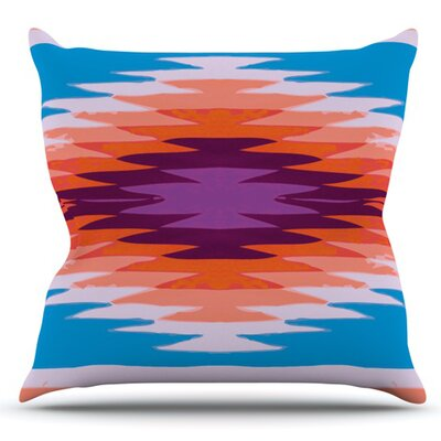 Surf Lovin Hawaii by Nika Martinez Outdoor Throw Pillow Color: Orange/Blue