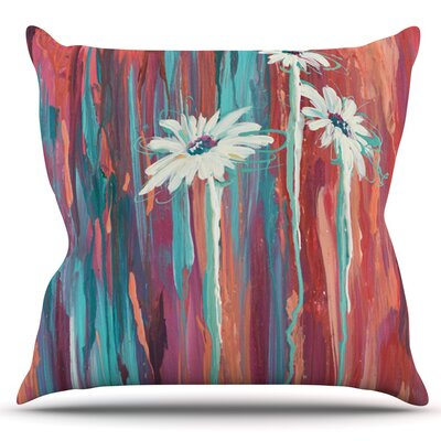 Daises by Brienne Jepkema Outdoor Throw Pillow Color: Teal/Orange