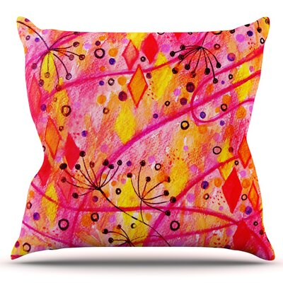 Into the Fall by Ebi Emporium Outdoor Throw Pillow Color: Pink/Yellow