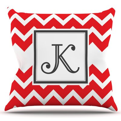 Chevron Original Outdoor Throw Pillow Color: Red