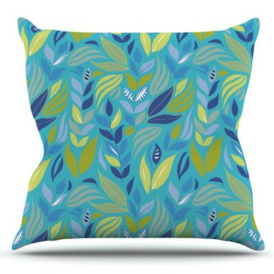Underwater Bouquet by Michelle Drew Outdoor Throw Pillow Color: Sky Blue