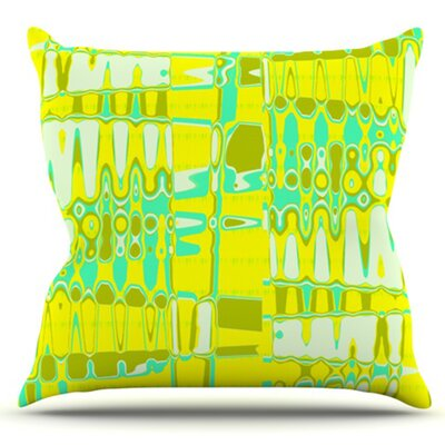 Changing Gears by Vikki Salmela Outdoor Throw Pillow Color: Blue