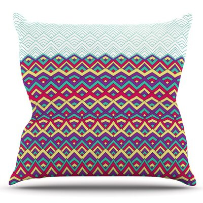 Horizons by Pom Graphic Design Outdoor Throw Pillow Color: Teal
