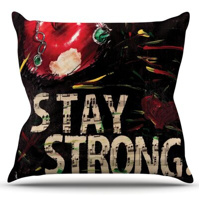 Stay Strong by Alexa Nicole Outdoor Throw Pillow
