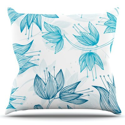 Biru Dream by Anchobee Outdoor Throw Pillow