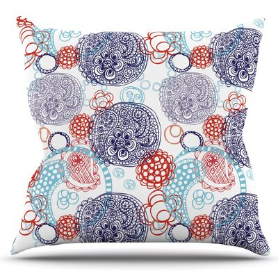 Lacy Ying Yang by Anneline Sophia Outdoor Throw Pillow