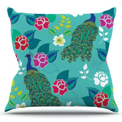 Mexican Peacock by Anneline Sophia Outdoor Throw Pillow