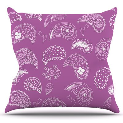Tropical Paisley by Anneline Sophia Outdoor Throw Pillow
