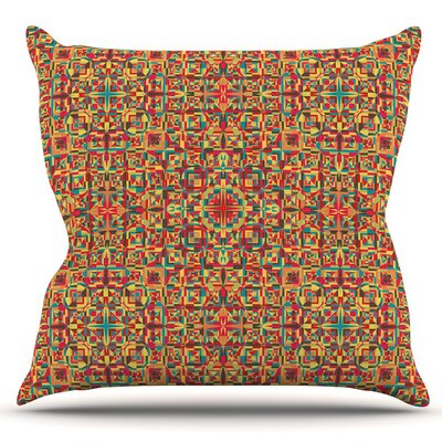 Circus by Allison Soupcoff Outdoor Throw Pillow
