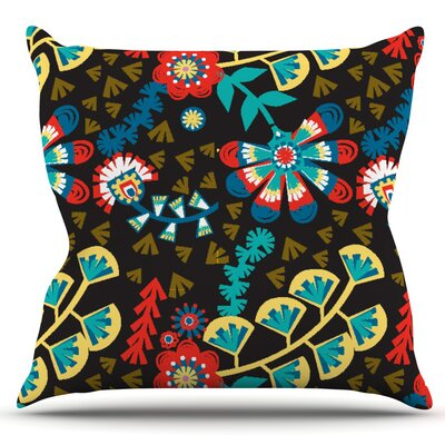 Wycinanka by Agnes Schugardt Outdoor Throw Pillow