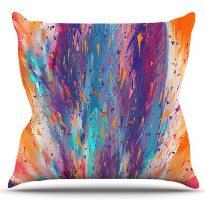 Colorful Fire by Danny Ivan Outdoor Throw Pillow