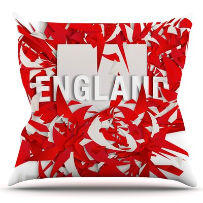 England by Danny Ivan Outdoor Throw Pillow