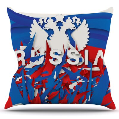 Russia by Danny Ivan Outdoor Throw Pillow
