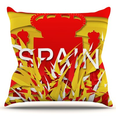 Spain by Danny Ivan Outdoor Throw Pillow