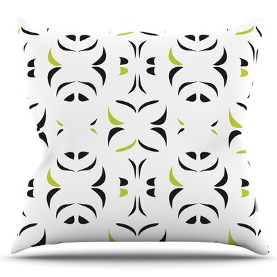 Retro Snow Storm by Miranda Mol Outdoor Throw Pillow